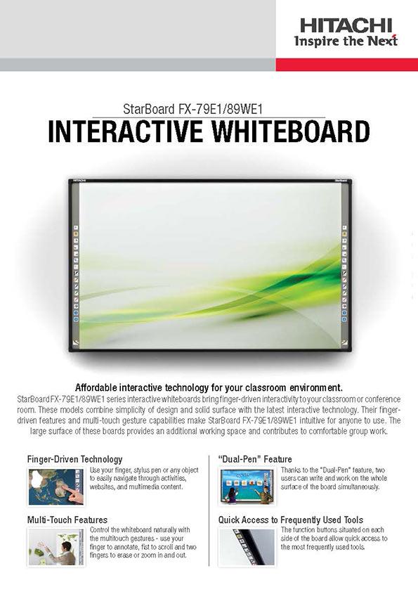 Interactive whiteboard 79 Hitahi